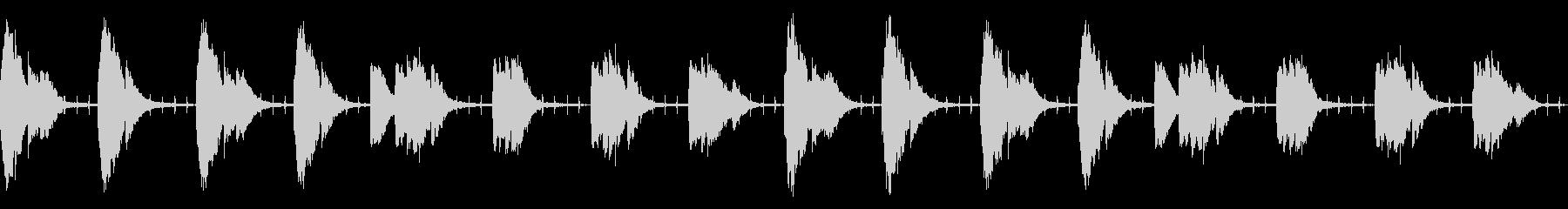 謎・不穏なシーンのシンプルなBGMの未再生の波形