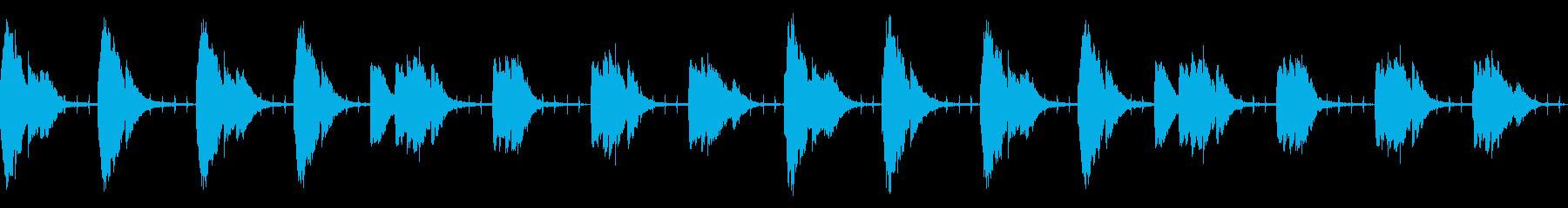 謎・不穏なシーンのシンプルなBGMの再生済みの波形
