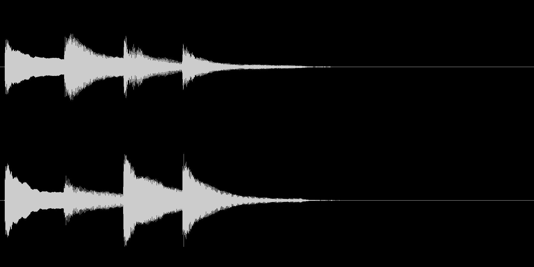 アナウンス前のピンポンパンポン・上昇の未再生の波形