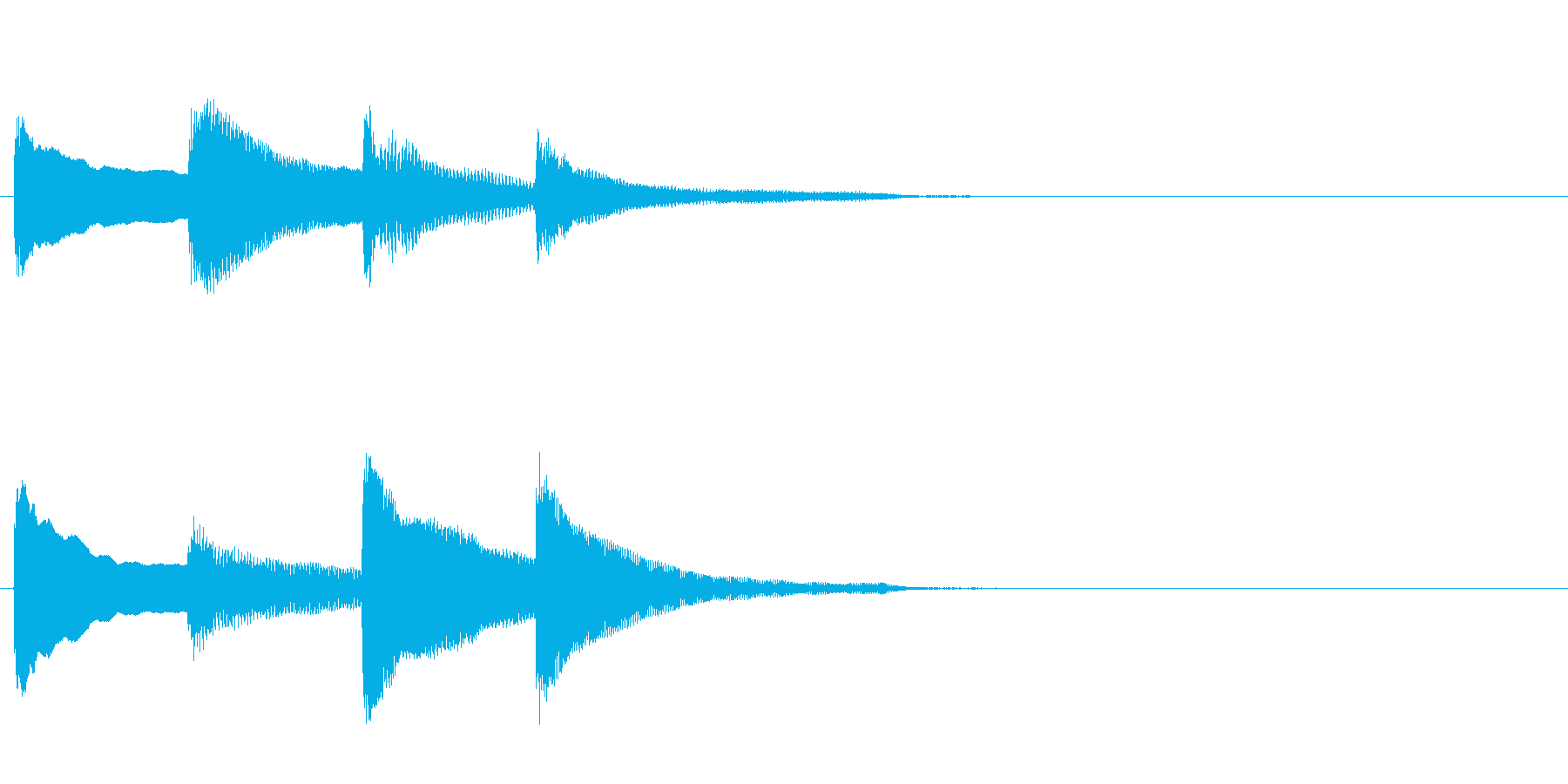 アナウンス前のピンポンパンポン・上昇の再生済みの波形