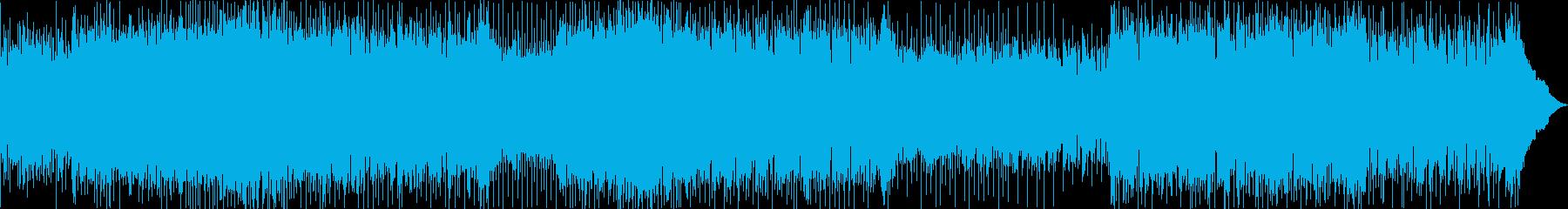 ノリの良い派手なギターロック曲の再生済みの波形