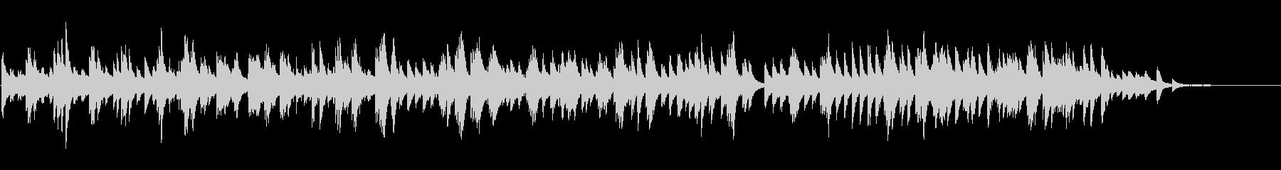しっとり切ない アンビエントなピアノソロの未再生の波形