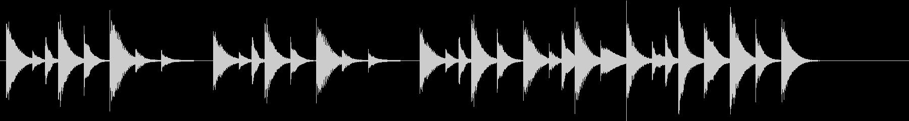 木琴の音で作った短い曲の未再生の波形