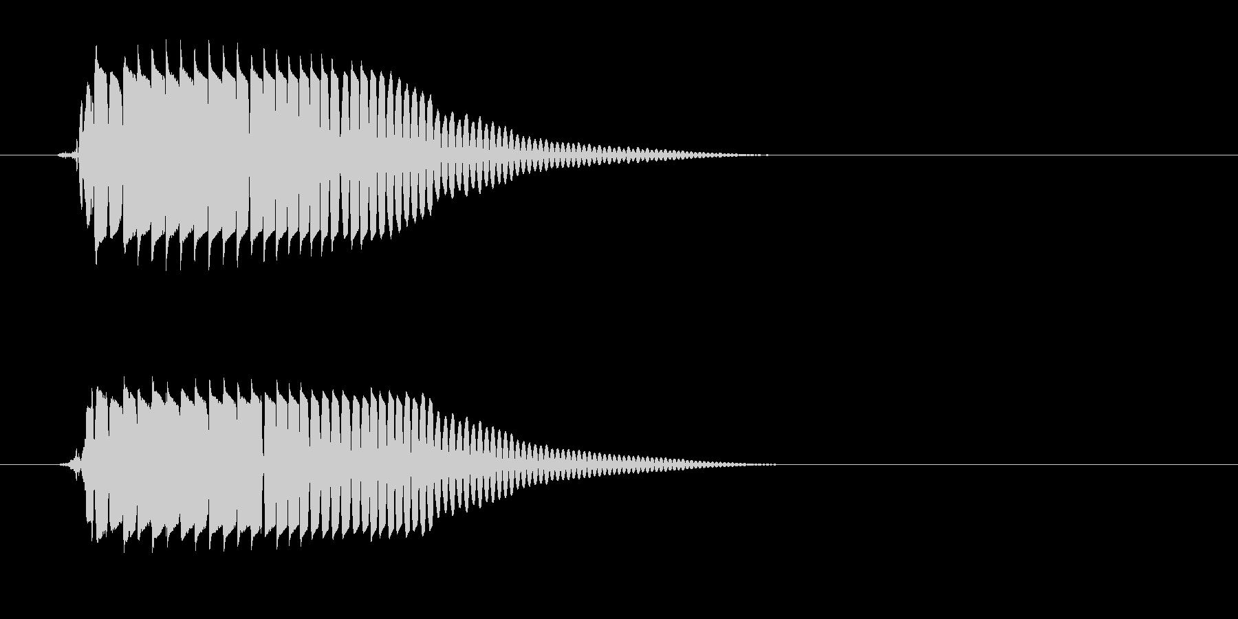 ポヨン(かわいい音)の未再生の波形