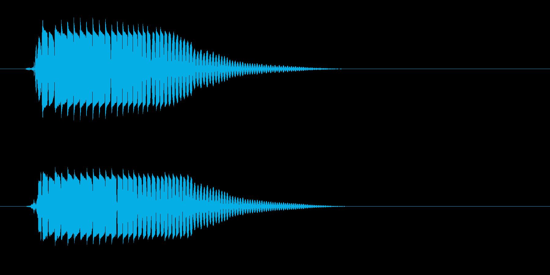 ポヨン(かわいい音)の再生済みの波形