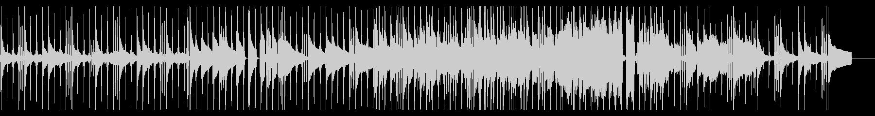 ピアノメインの優しくも強いロックバラードの未再生の波形