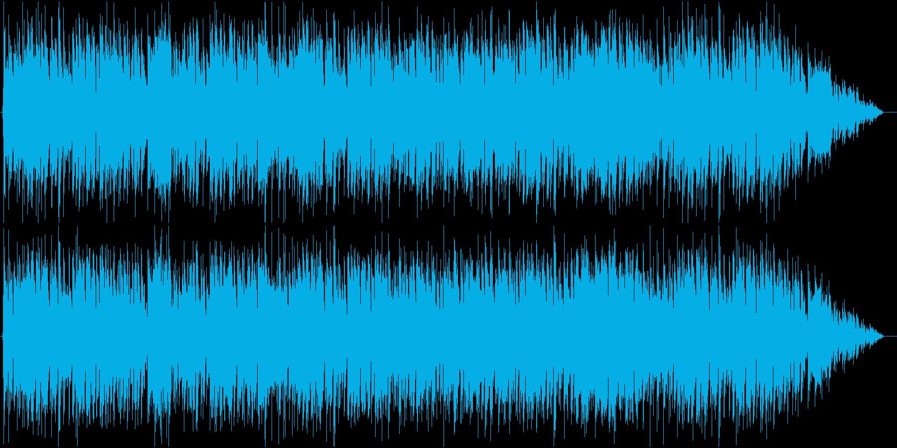 アコーディオンを使った活気ある町のBGMの再生済みの波形