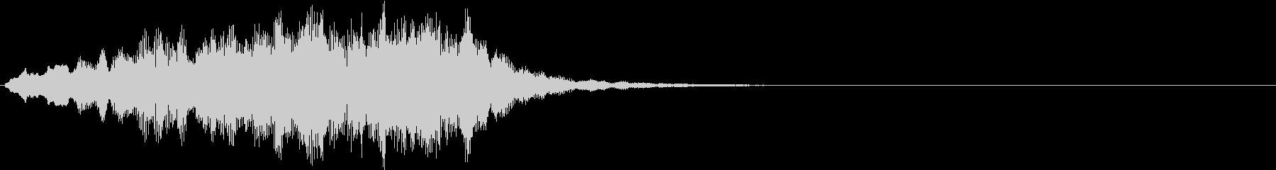 ボーイソプラノ1 アート芸術聖歌 8秒の未再生の波形