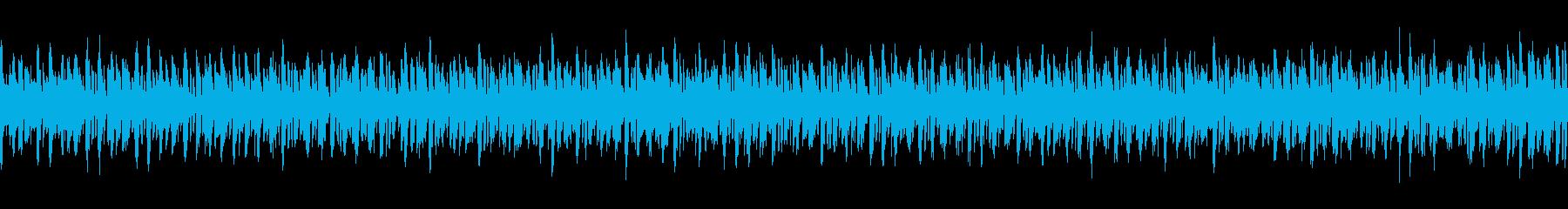 デジタルコンテンツ系BGM(ループ仕様)の再生済みの波形