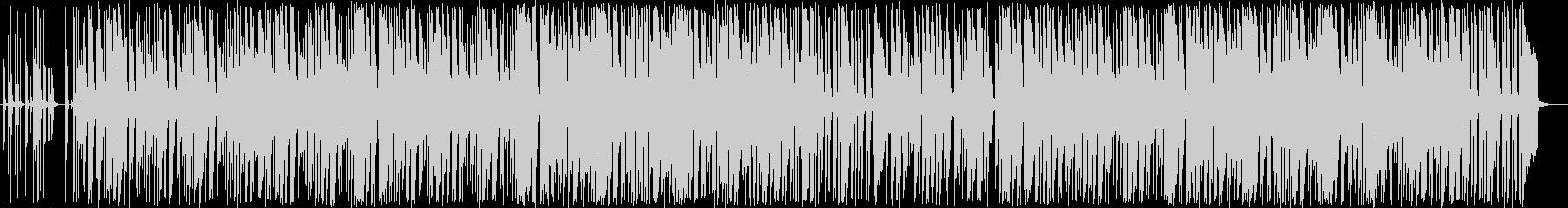 パステルカラーのボッサ風ポップスの未再生の波形
