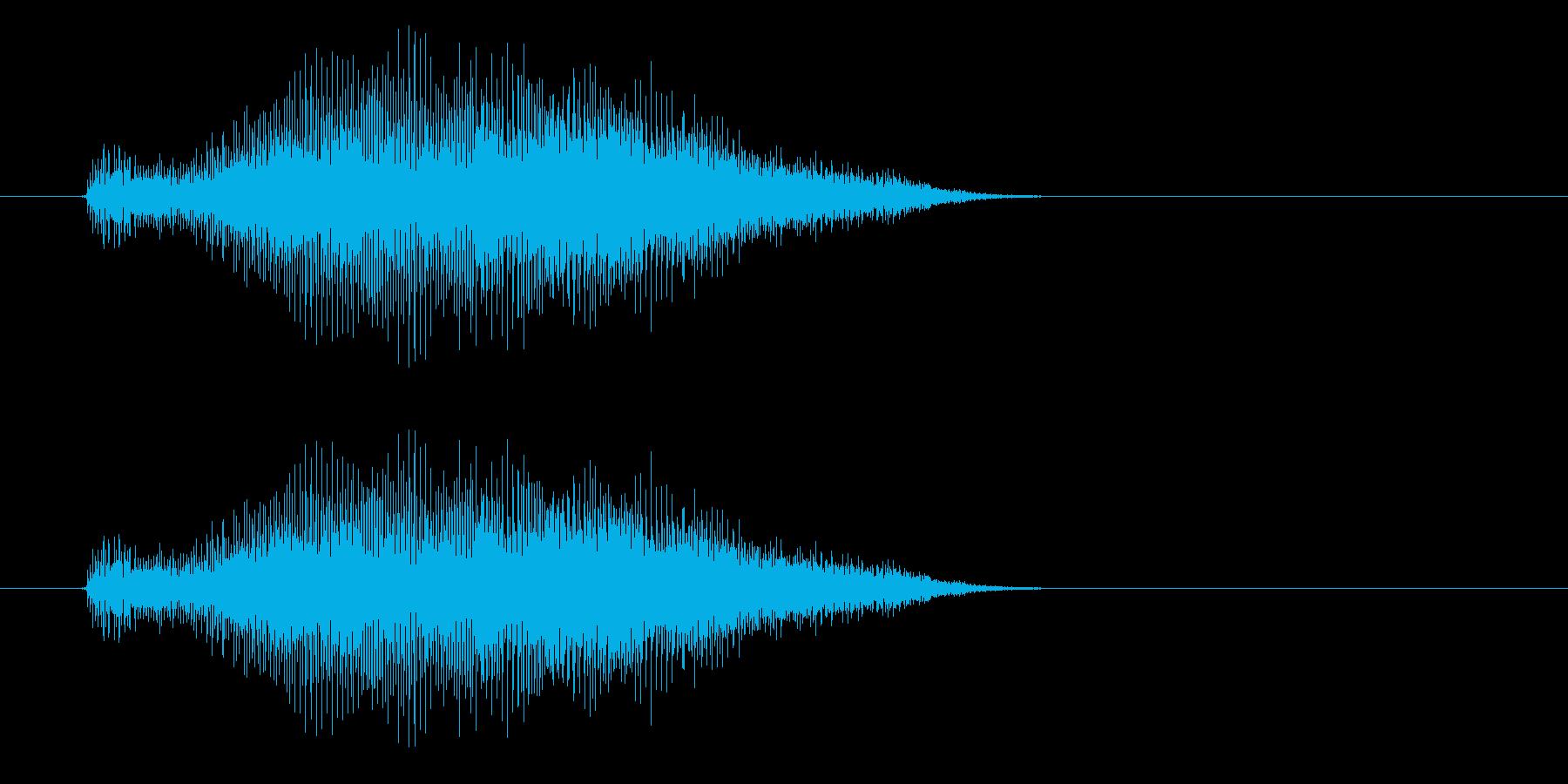 ギューゥーーォィン(不気味な効果音)の再生済みの波形