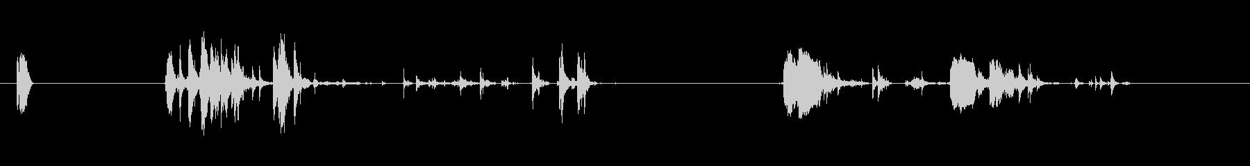 ボディドロップオンウッドの未再生の波形