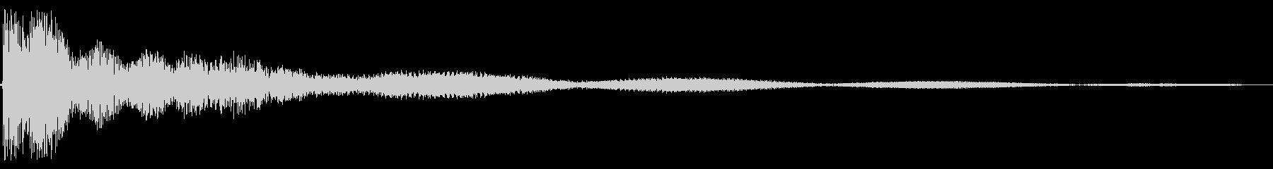 シンプル テロップ トイピアノの未再生の波形