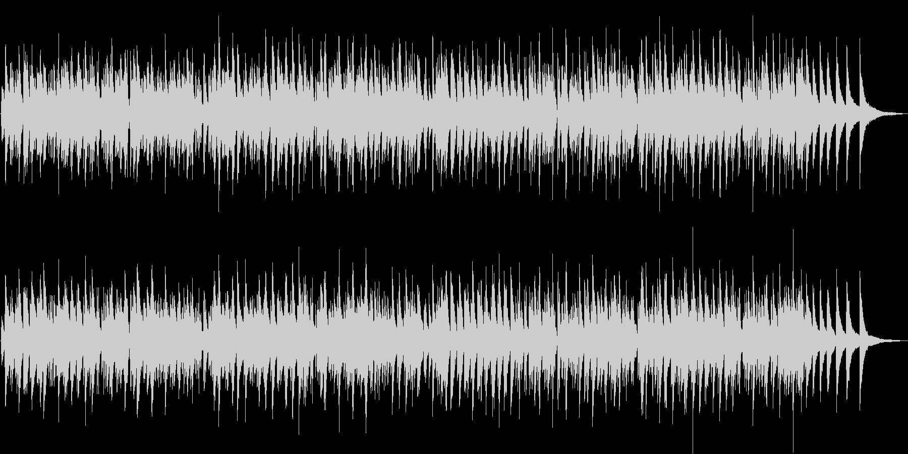 蛍の光/おしゃれなボサノバ・ピアノトリオの未再生の波形