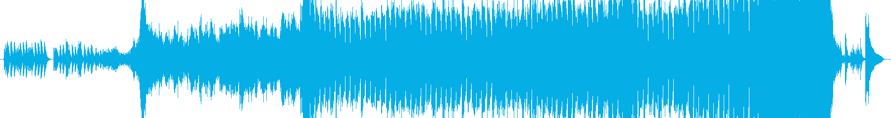 ほのぼのした雰囲気のテクノポップスの再生済みの波形