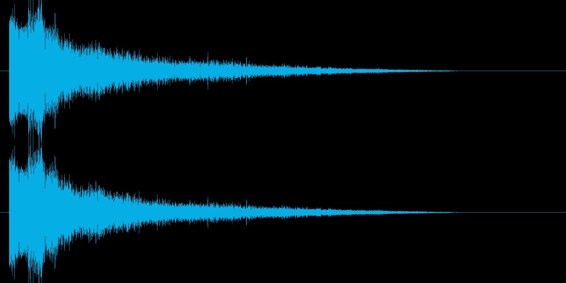 ブシュー(蒸気)の再生済みの波形