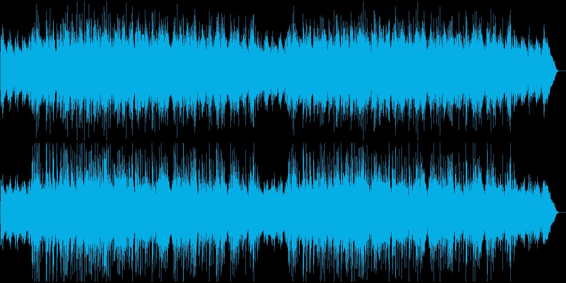 爽やかでかわいらしい雰囲気のBGMの再生済みの波形