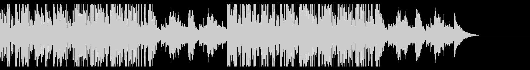 カフェの明るいジャズピアノの未再生の波形