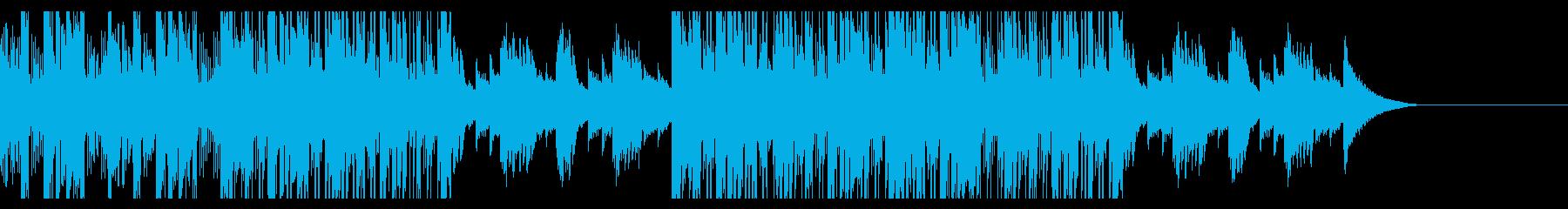 カフェの明るいジャズピアノの再生済みの波形