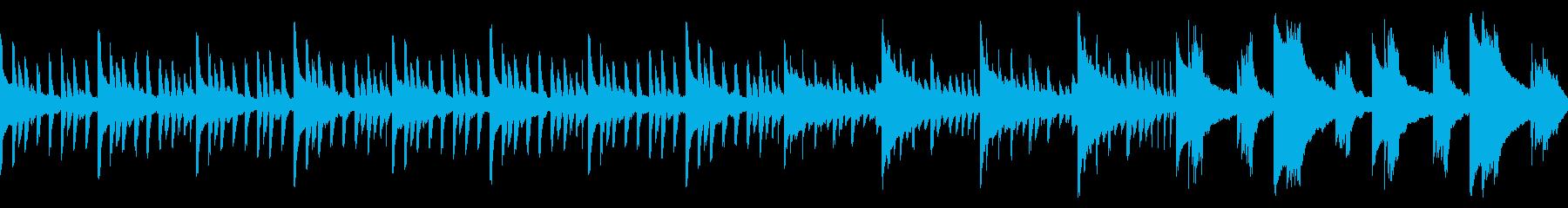 ホラーな怖い雰囲気のBGM(ループ仕様)の再生済みの波形