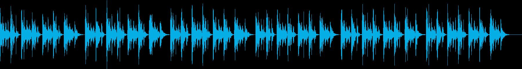眠れる癒やしの音楽の再生済みの波形