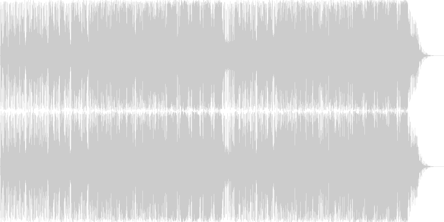 cuticulaの未再生の波形