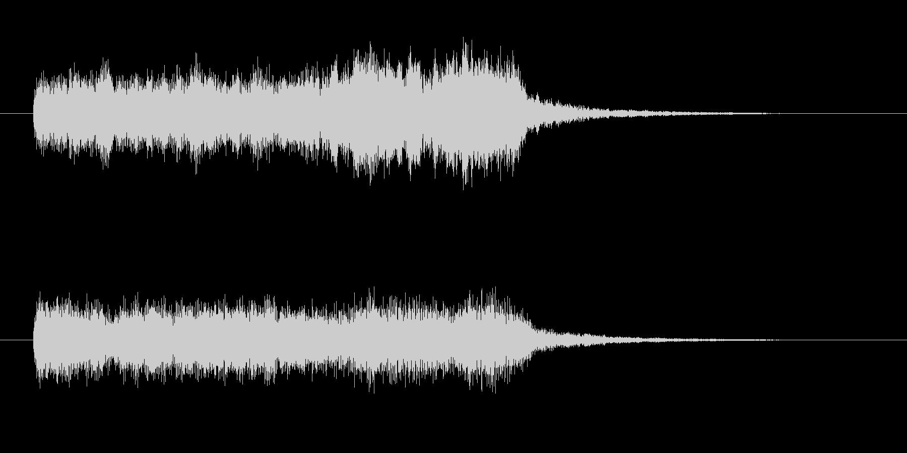 派手なバイオリン ゲームオーバー 残念の未再生の波形