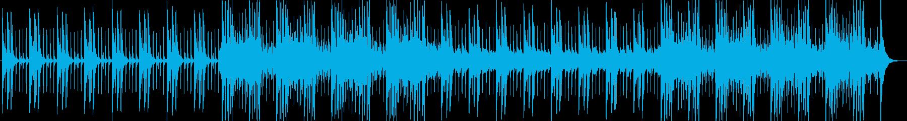 妖しげな曲の再生済みの波形