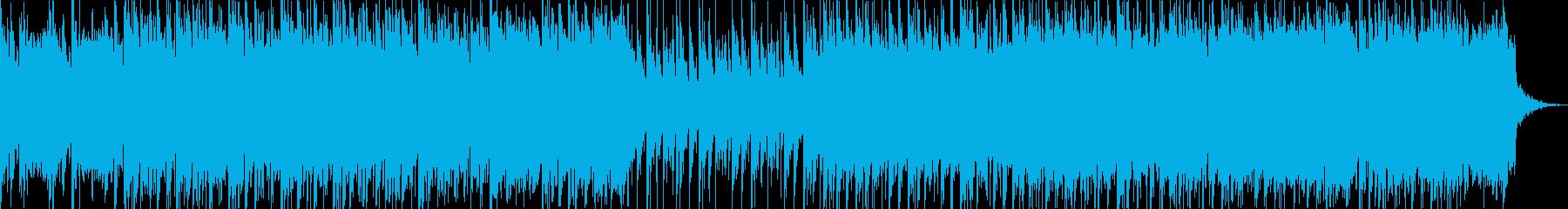 大型モンスターと戦う系の和風曲の再生済みの波形