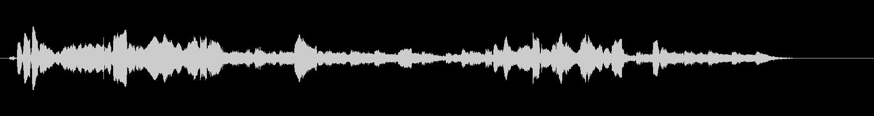生演奏リコーダーのやまびこのような音楽の未再生の波形