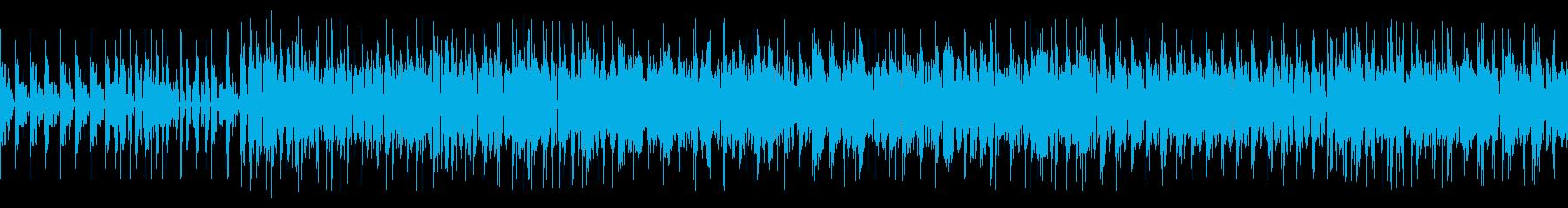 グリッチされたピアノの再生済みの波形
