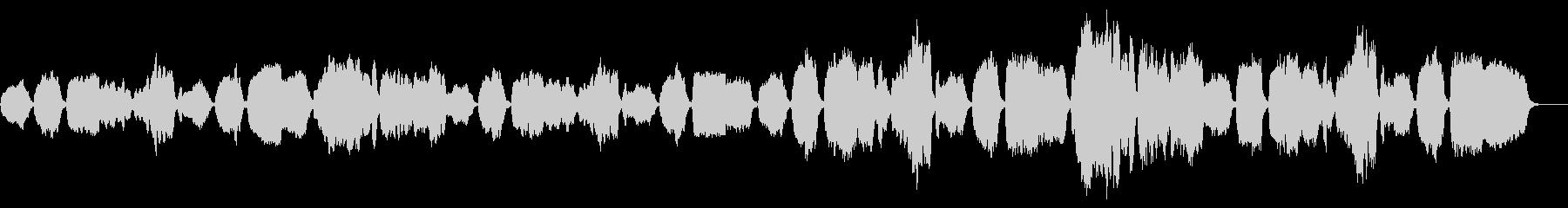 おどろおどろしいリコーダー曲の未再生の波形