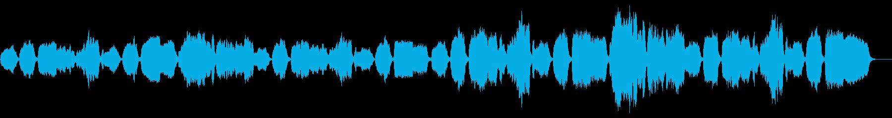 おどろおどろしいリコーダー曲の再生済みの波形