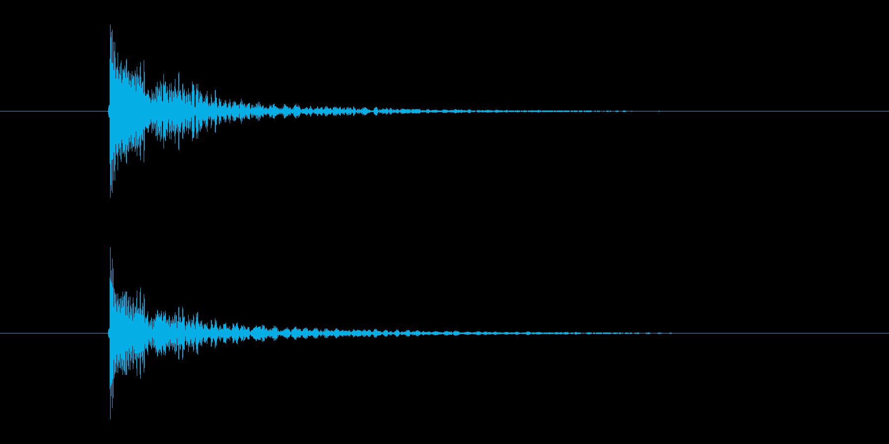 「ダン」という張り詰めた太鼓の音の再生済みの波形