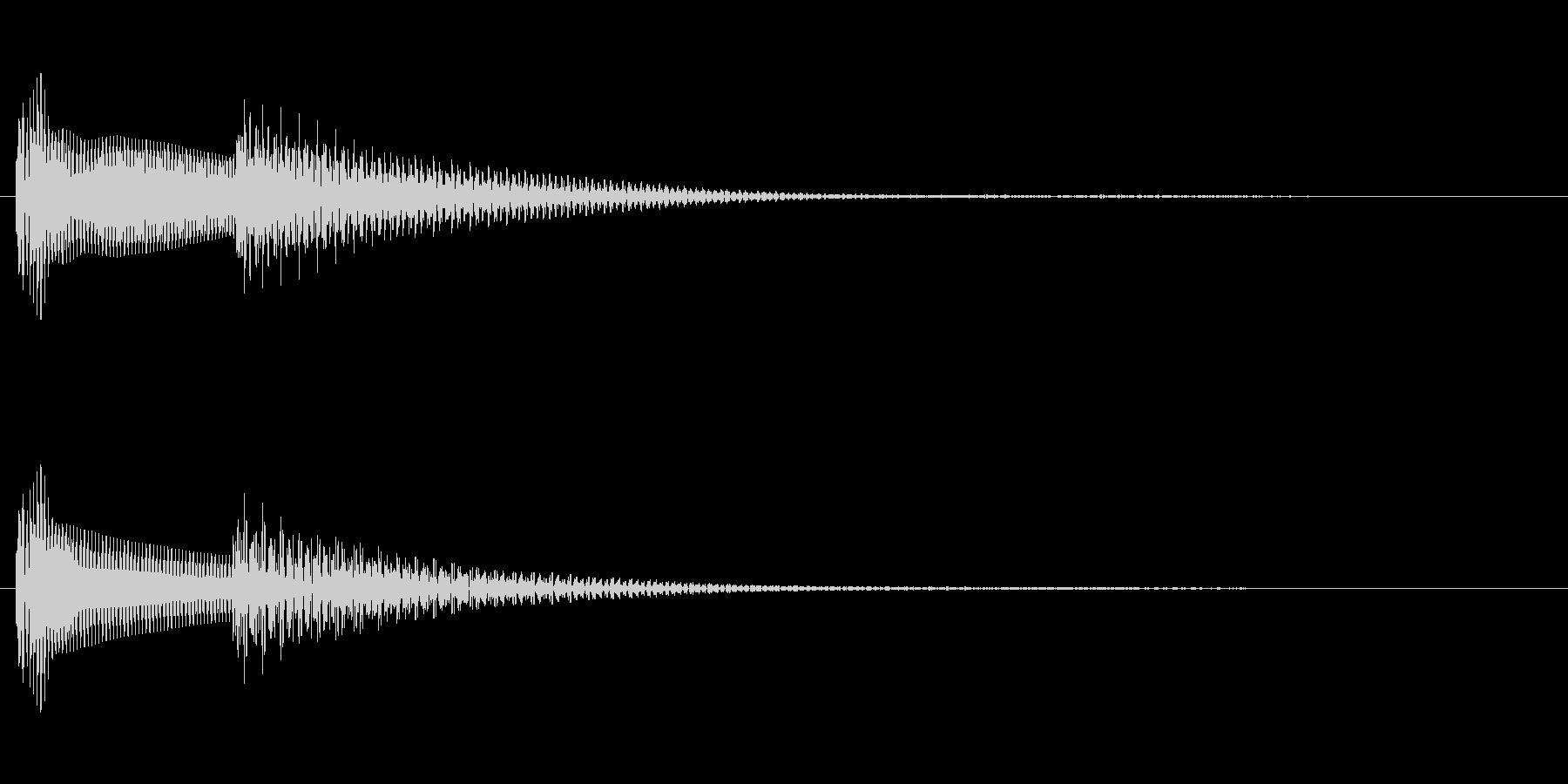 シンセサイザーの通知音 ピコンの未再生の波形