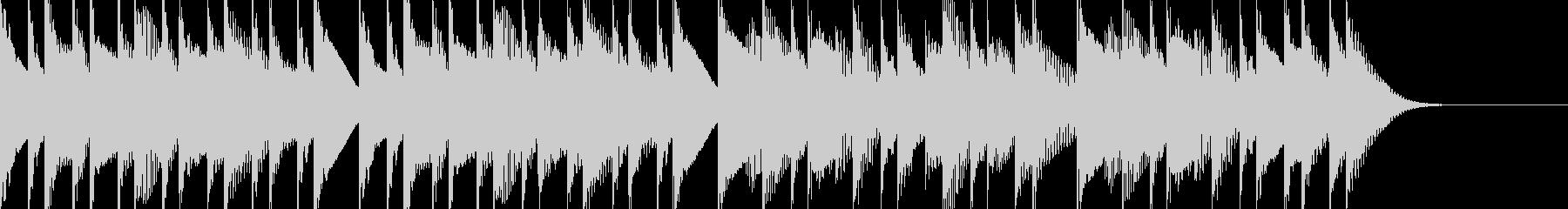 シンプルで可愛いマリンバのジングルの未再生の波形