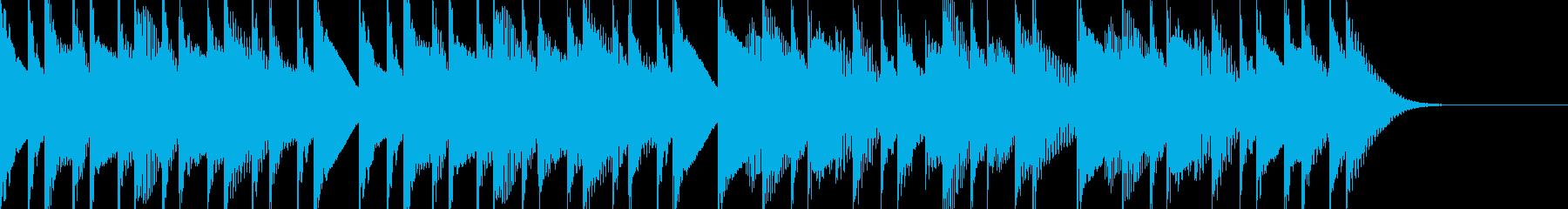 シンプルで可愛いマリンバのジングルの再生済みの波形