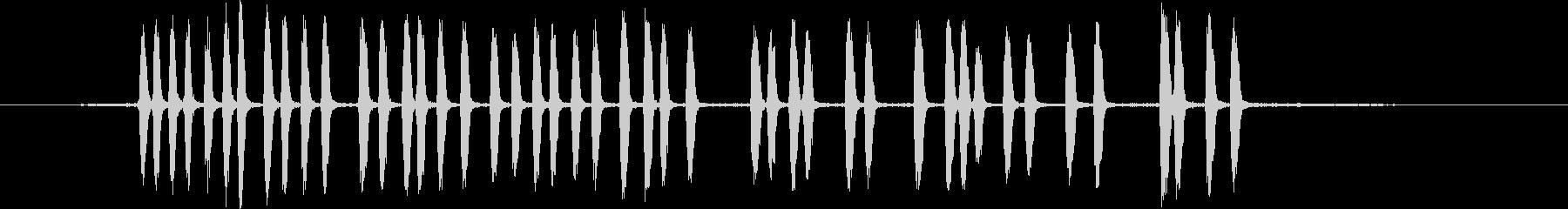 ユカタンジェイ:呼び出し、鳥の未再生の波形