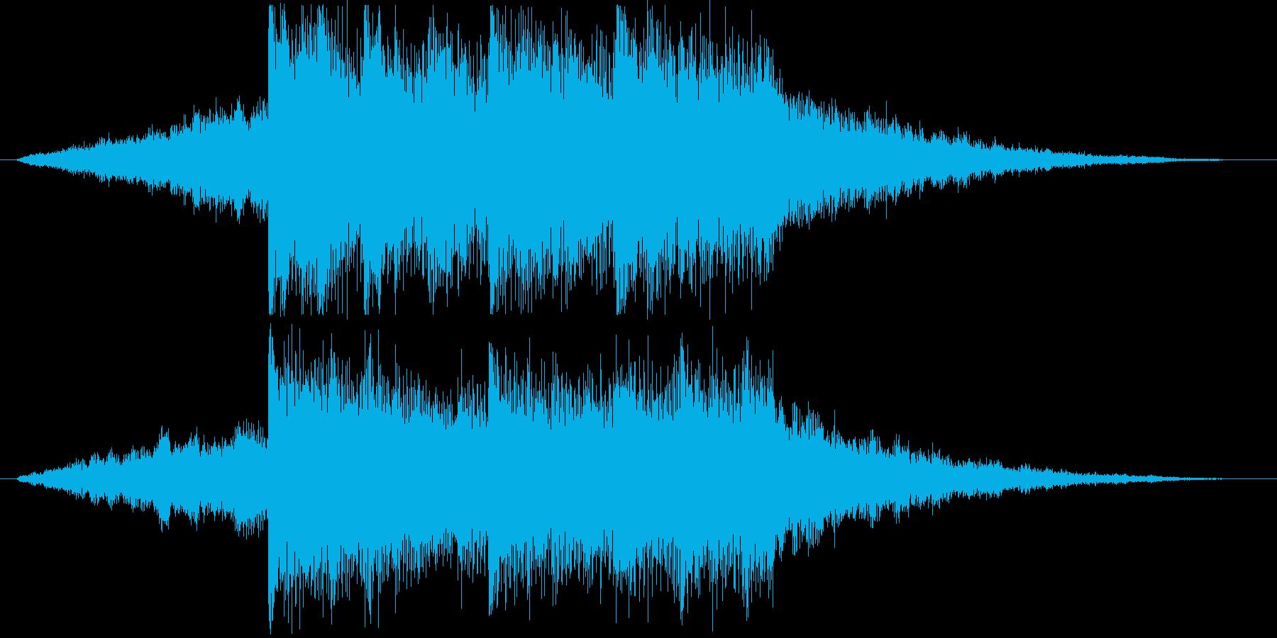 クールで深い世界観のデジタルロゴの再生済みの波形