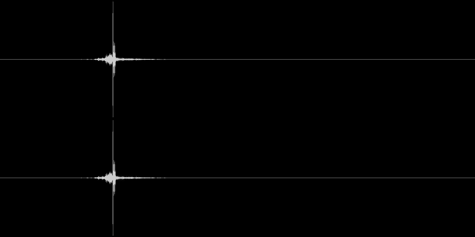 チョキ(ハサミ)の未再生の波形