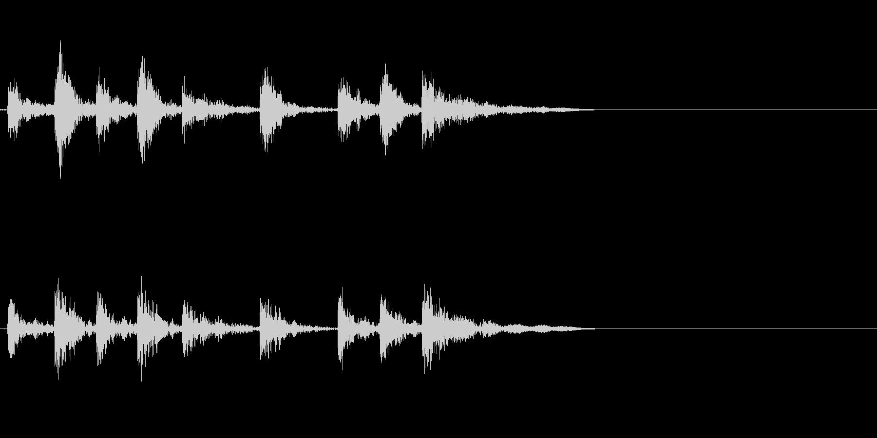 ドラム、タム、タイプA、アクセント...の未再生の波形