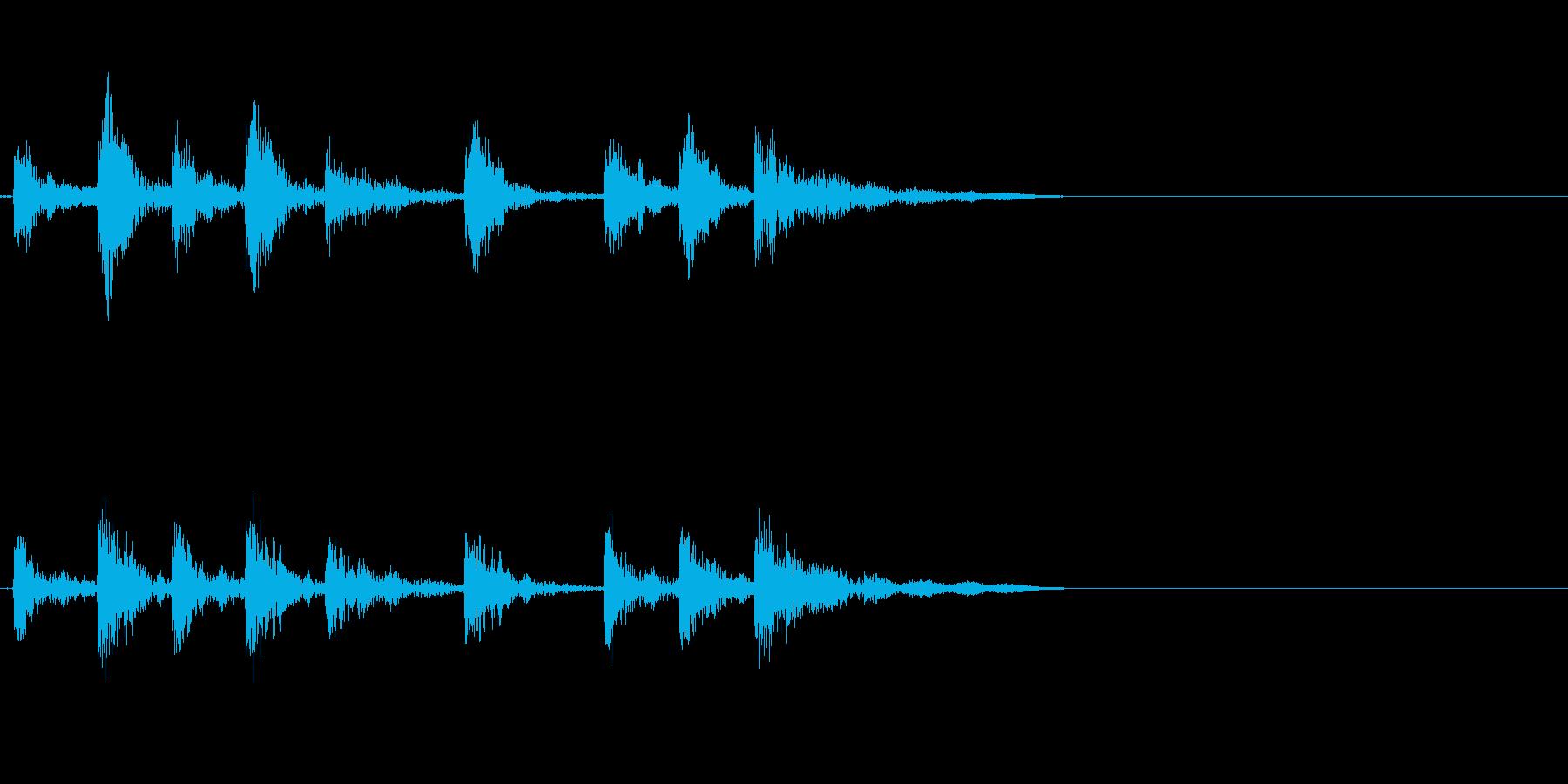 ドラム、タム、タイプA、アクセント...の再生済みの波形