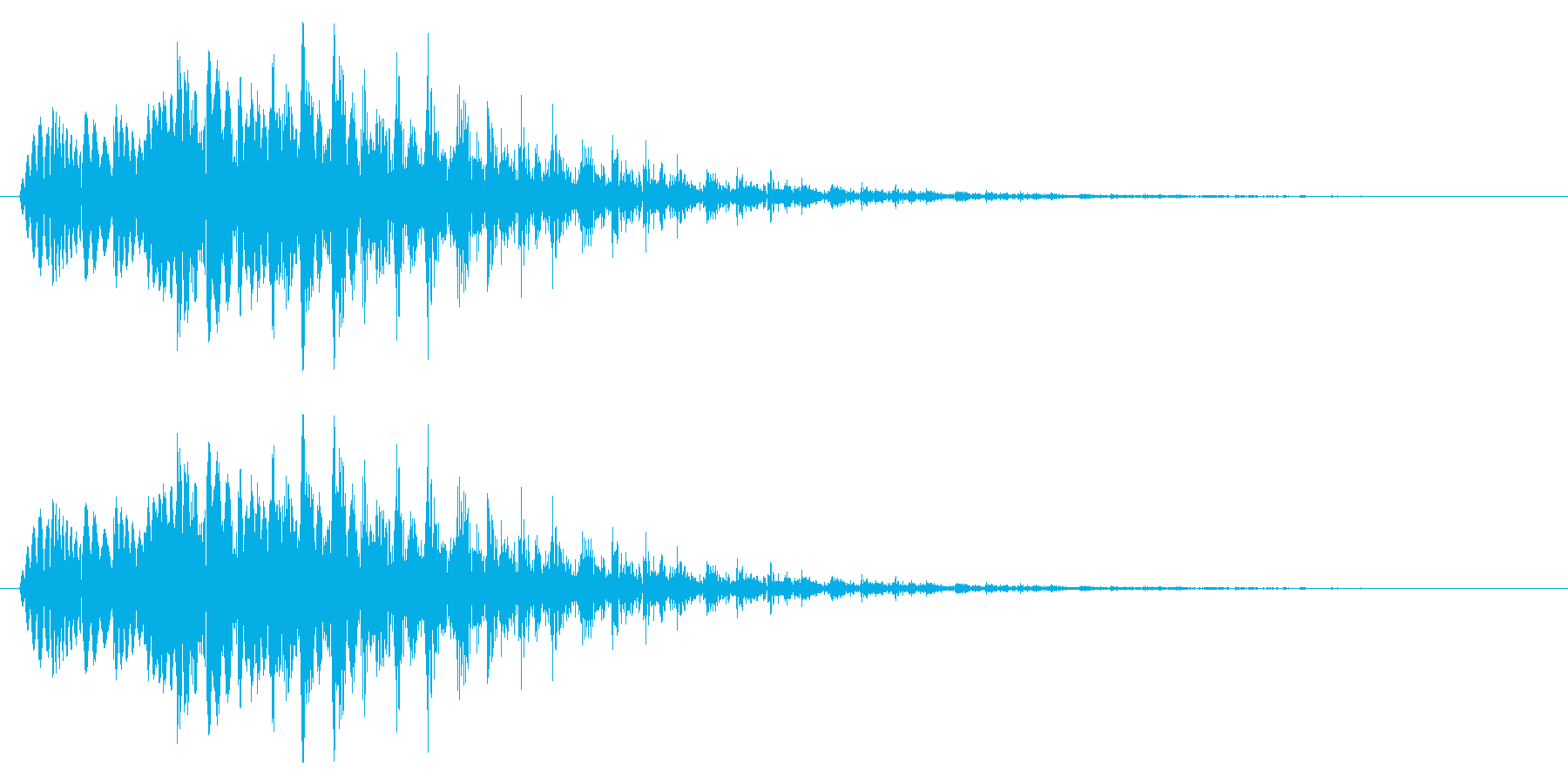 テロップ/場面転換/下がるの再生済みの波形