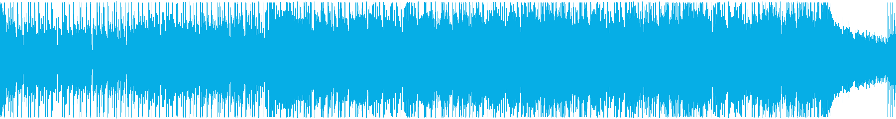 明るく軽快、ウキウキ楽しい動画用、ループの再生済みの波形