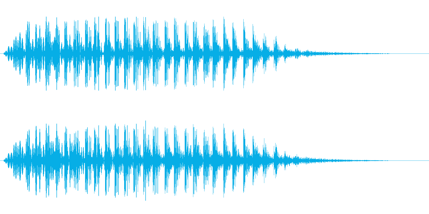 シャララ系アップ(ぷわぷわ)の再生済みの波形