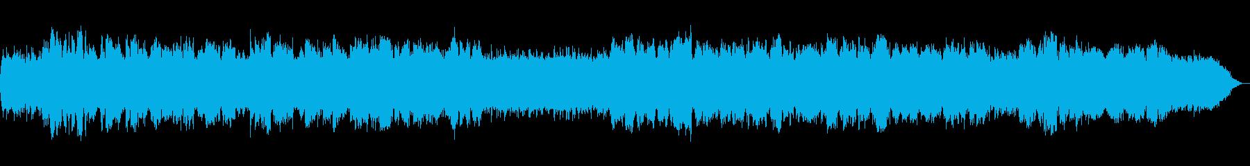 竹笛の低音が印象的なヒーリング音楽の再生済みの波形