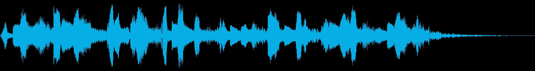 SF映画 宇宙空間のロボットの音の再生済みの波形
