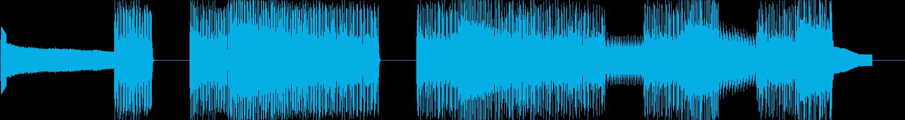 レトロゲームなチップチューンジングル21の再生済みの波形