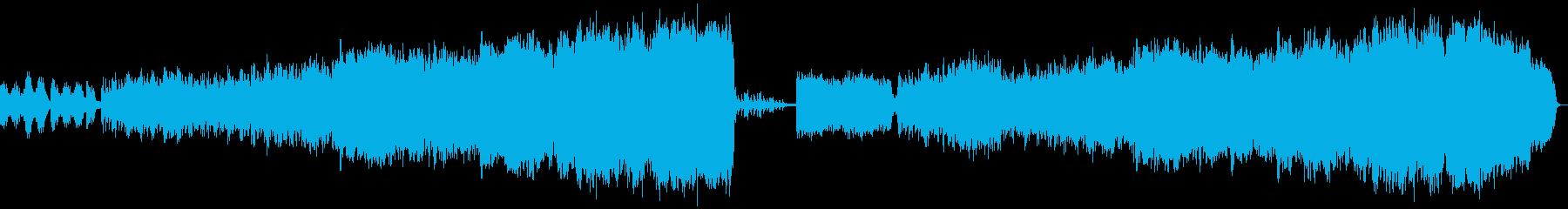 バイオリンとオーケストラの切ないBGMの再生済みの波形