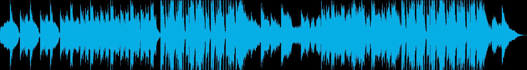 ダークでホラーな曲の再生済みの波形